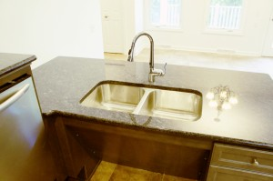 Accessible kitchen sink