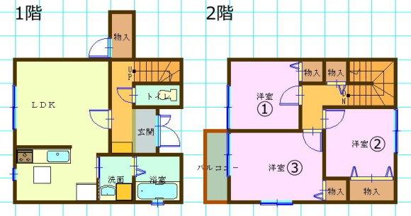 一戸建て賃貸(3LDK/佐賀県佐賀市)
