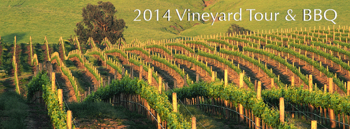 "2014 Vineyard Tour & BBQ    –  ""The Grape to the Glass Tour"""