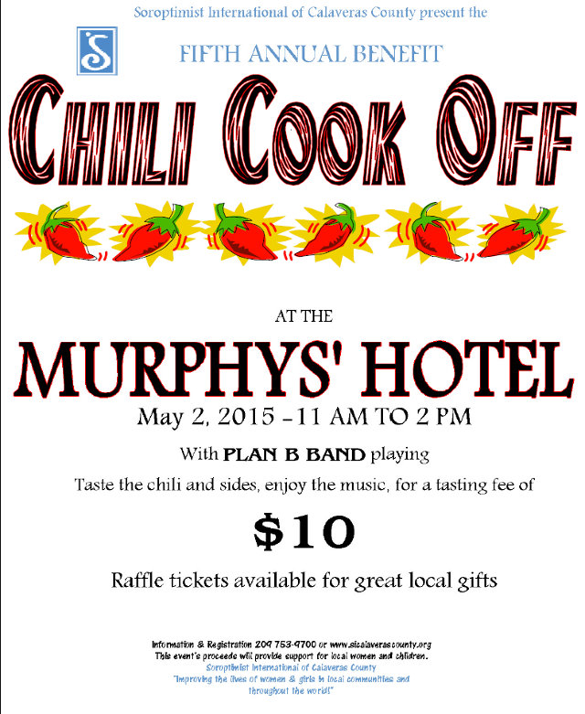 Make Plans To Cook, Taste and Attend The Soroptimist's Fifth Annual Chili Cook Off