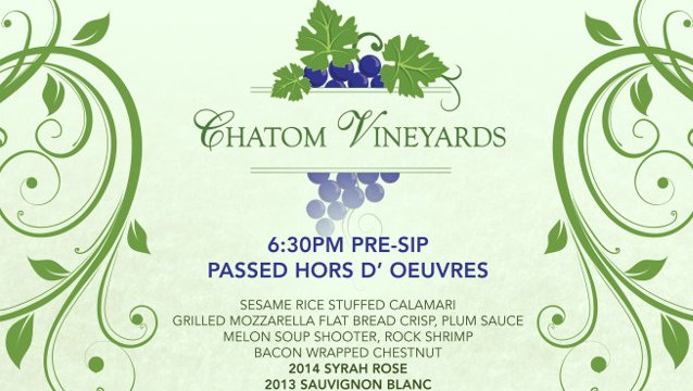 Black Oak Casino Resort features Chatom Vineyards for exclusive Winemaker Dinner