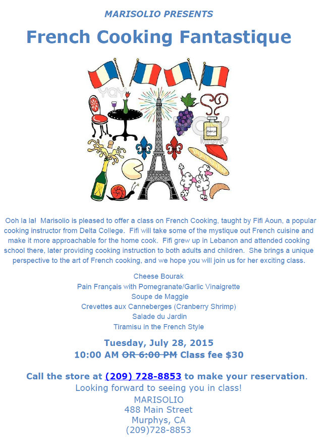 Marisolio Presents French Cooking Fantastique