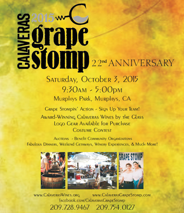Calaveras Grape Stomp Celebrates 22nd Anniversary October 3rd