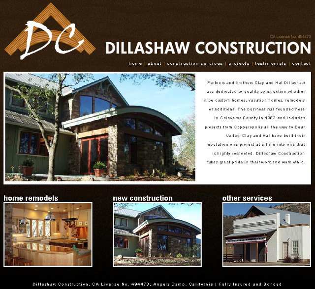 Quality Custom Homes & Construction Projects From Dillashaw Construction ~ 209.736.4855