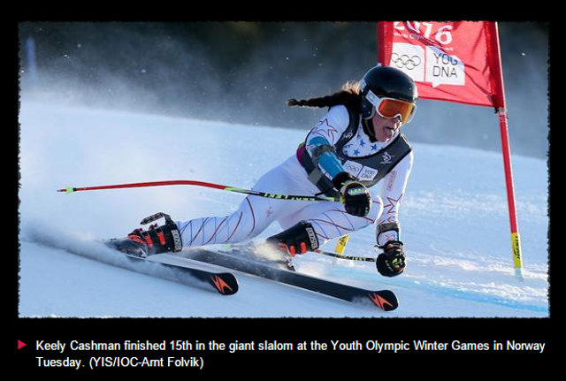 Strawberry's Cashman 15th In Youth Olympic Games Giant Slalom