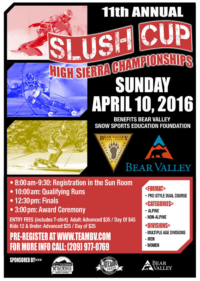 Bear Valley Mountain To Host 11th Annual SLUSH CUP RACE On April 10th