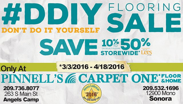 The Big Don't Do It Yourself Flooring Sale Going On Now At Pinnell's Carpet One