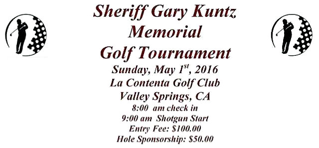 Erica Seawell & Sheriff Gary Kuntz Memorial Golf Tournament Is May 1st, 2016