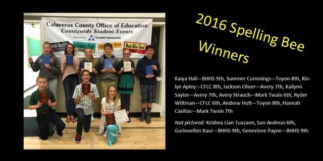 Bret Harte's Kaiya Hall Takes Top Spelling Bee Honors