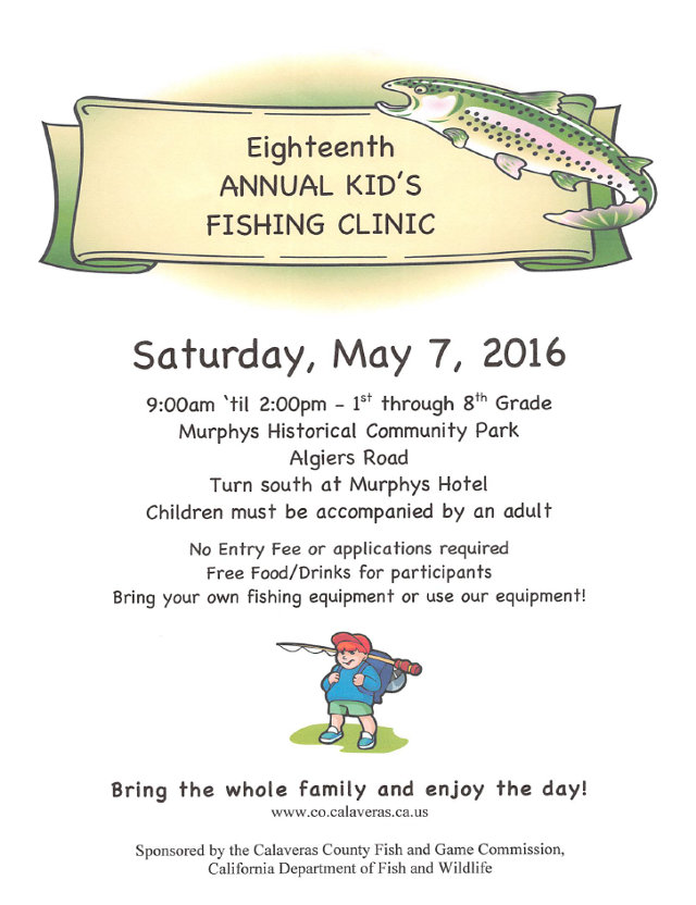 Eighteenth Annual Kid's Fishing Day Is May, 7th, 2016