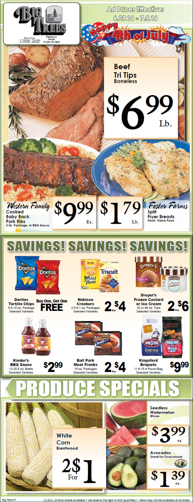 Big Trees Market Weekly Ad & Specials Through July 5th