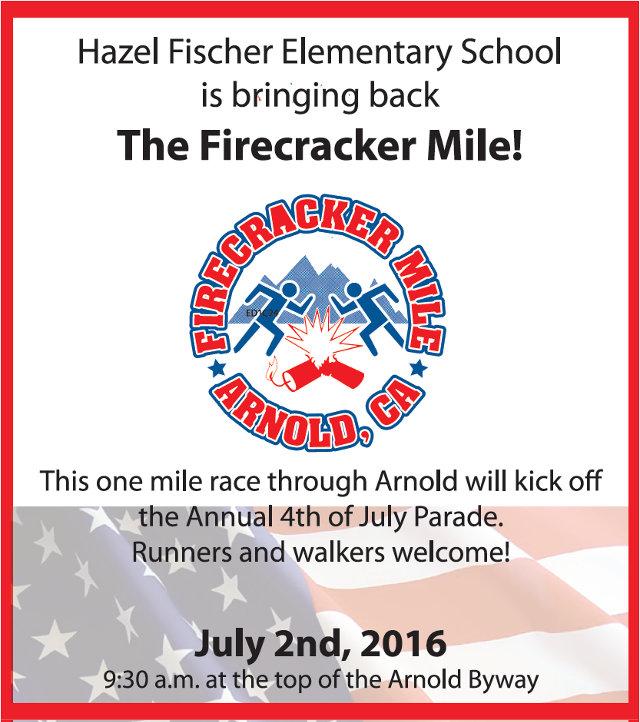 Hazel Fischer Elementary School Is Bringing Back The Firecracker Mile!  Register Today!!