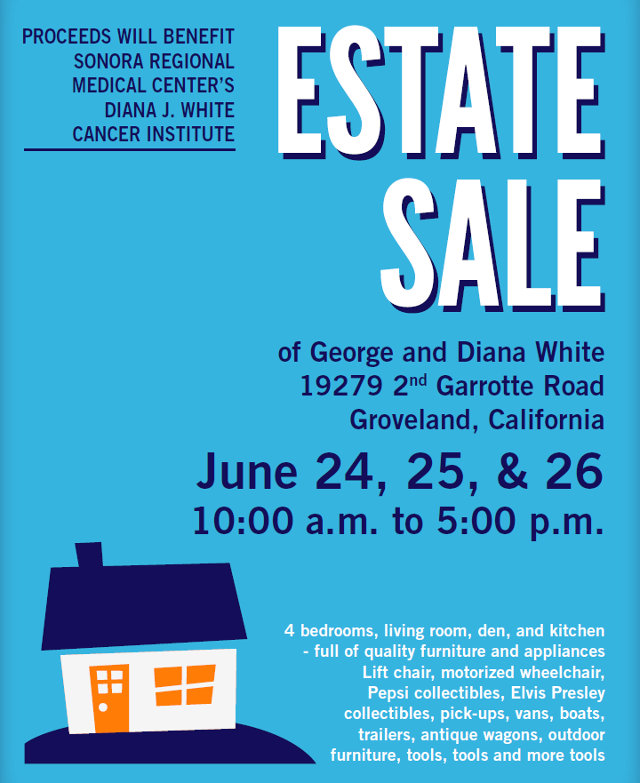Estate Sale to Benefit the Diana J. White Cancer Institute