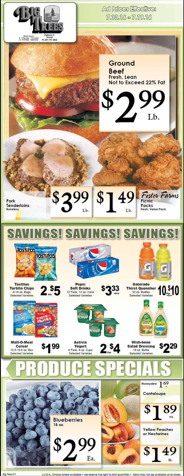 Big Trees Market Weekly Specials & Grocery Ad Through July 19th