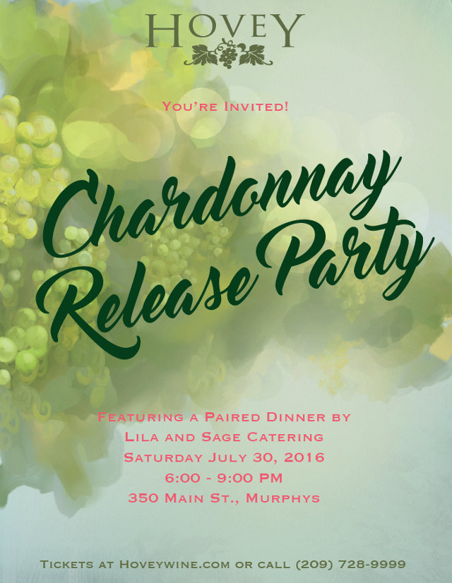 Hovey 2015 Chardonnay Release Party