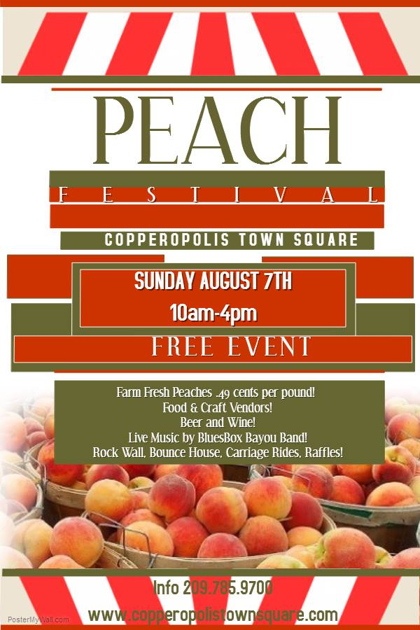 You Don't Want To Miss The Inaugural Peach Festival This Sunday!!
