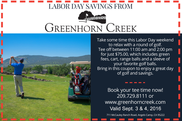 Save Green On The Greens At Greenhorn Creek Labor Day Weekend