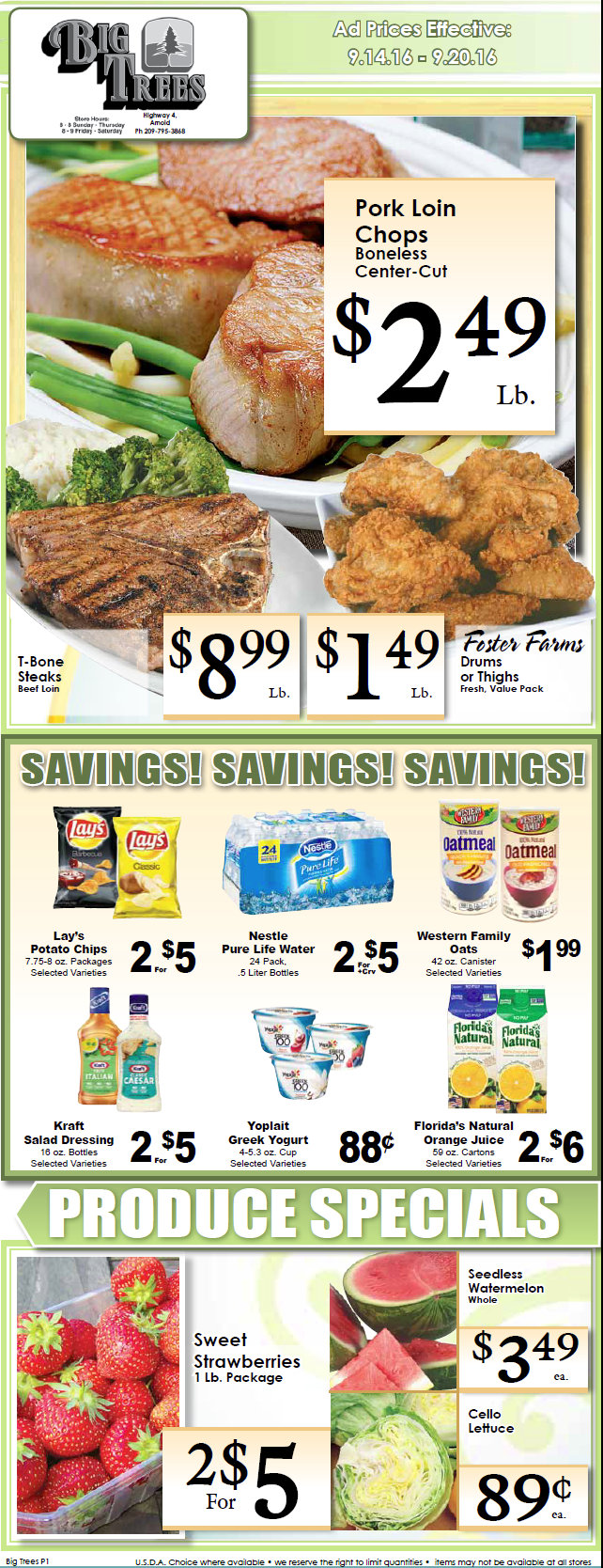 Big Trees Market Weekly Specials & Grocery Ads Through September 20th