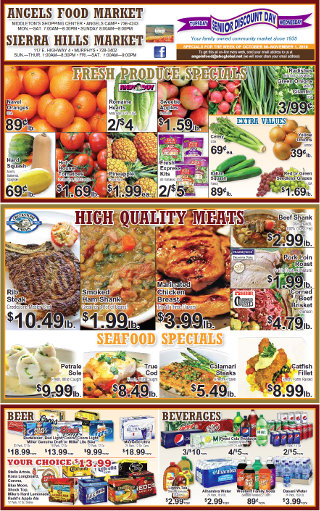 Shop Local! Sierra Hills, Angels Food & Sierra Hills Natural Food Markets Weekly Specials Through October 11th