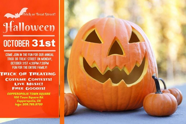 'Trick or Treat Street At The Square' Coming To Copperopolis October 31