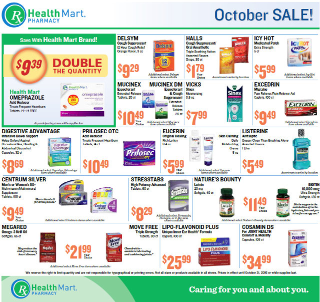 Great Savings From Your Local Neighborhood Meadowmont & Groveland Pharmacies