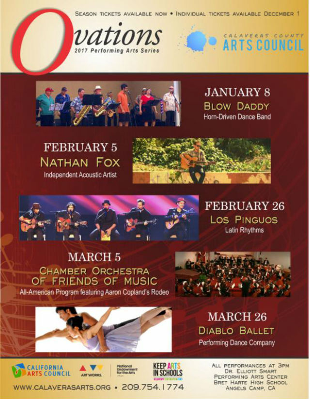 Get Your Tickets For The Ovations Performance Arts Series 2017