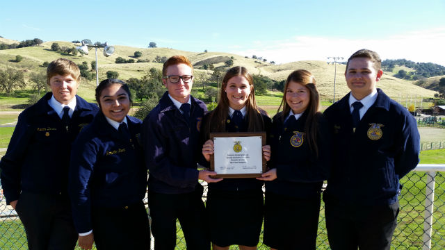 Hard Work, Sweat, & Determintation; Bret Harte FFA Receives Gold Award.