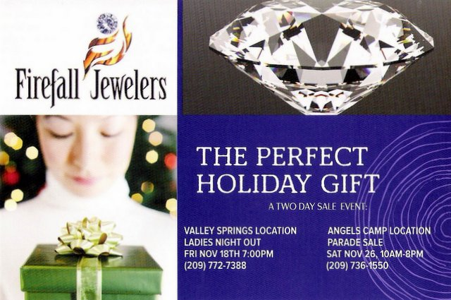 Don't Miss The Firefall Jewelers Two Day Holiday Sales Events!