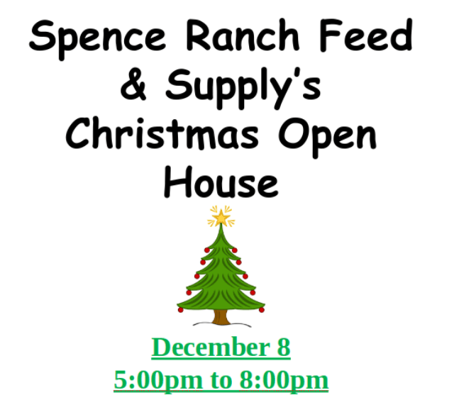 Spence Ranch Feed & Supply's Christmas Open House