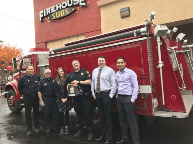 Firehouse Subs Public  Safety Foundation  Awards Folsom First Responders & West Point Fire Protection District