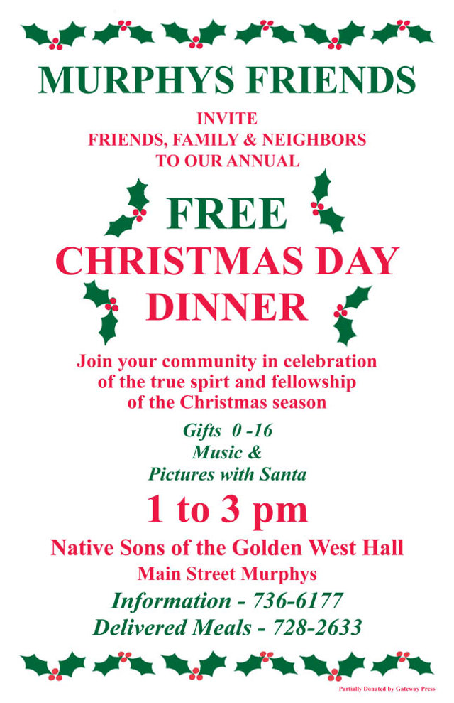 Friends, Family & Neighbors At Murphys Community Christmas Dinner