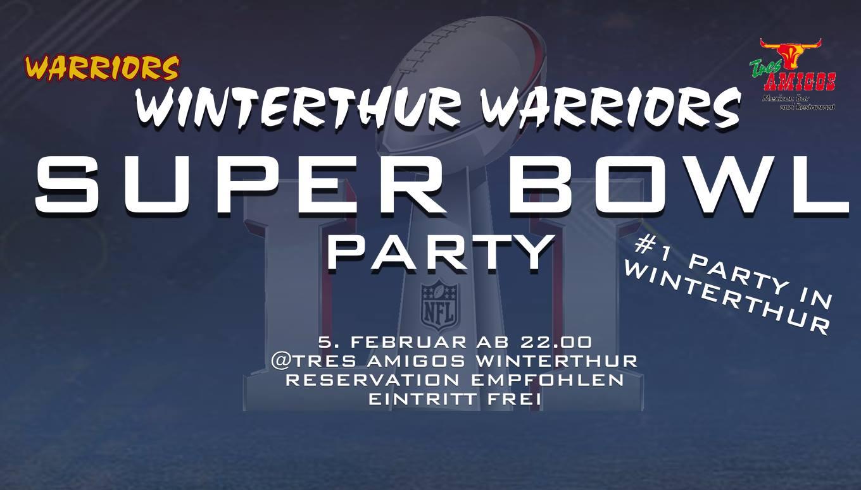 Super Bowl Party im Tres Amigos