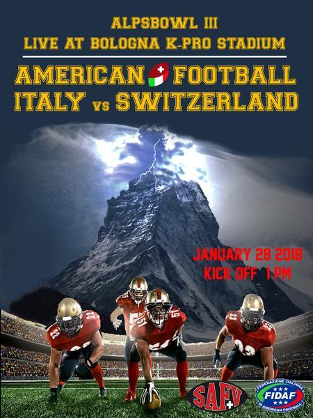 Alps Bowl III: Schweiz vs Italien – live