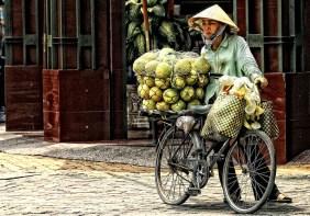 Fahrradtransport in Saigon