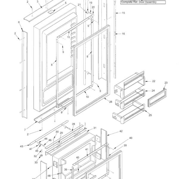 sub zero 650 refrigerator parts rh pandarestaurant us Sub-Zero 650 Parts Diagram Sub-Zero Refrigerator 650 Front Door Panel