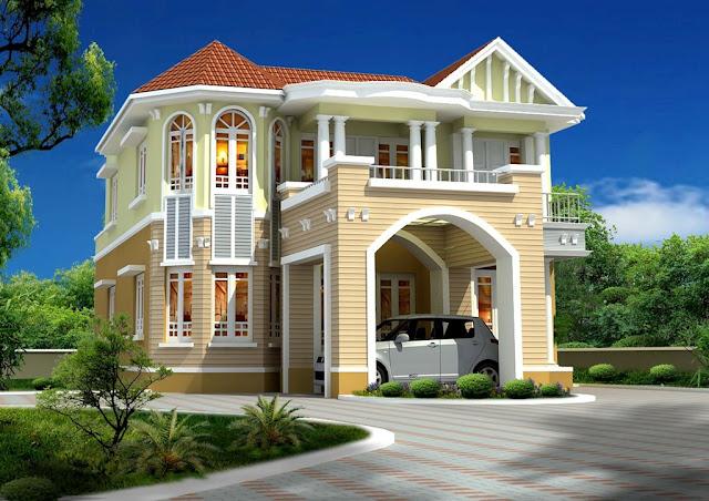 صور تصاميم منازل , واجهات بيوت مساحات كبيرة