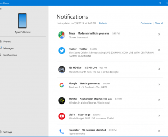 How to get Phone notifications on Windows 10 PC