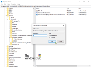 Configure Windows Defender to scan Mapped Network Drives on Windows 10
