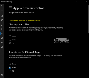 What is App & Browser Control in Windows 10 and how to hide it