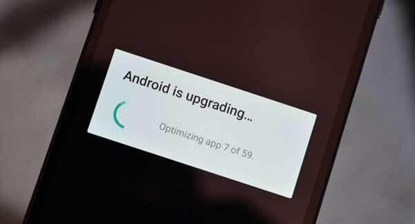 How to fix error 'Android is starting optimizing app