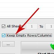 说明: Keep Empty Rows or Columns
