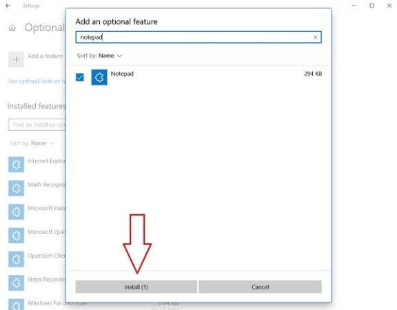 Uninstall or Reinstall Notepad in Windows 10