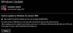 Windows Update Error 0x8007010b