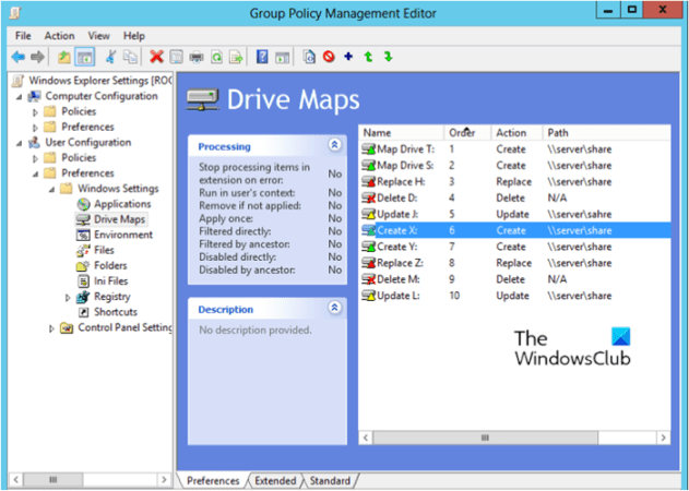 How to map a Drive using Group Policy Preferences on Windows 10