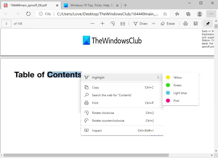 fix pdf highlight issue in microsoft edge