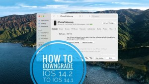 How To Downgrade Iphone From Ios 14.2 To Ios 14.1