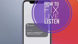how to fix live listening not working with airpods