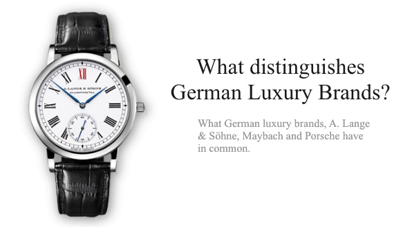 What distinguishes German Luxury Brands?