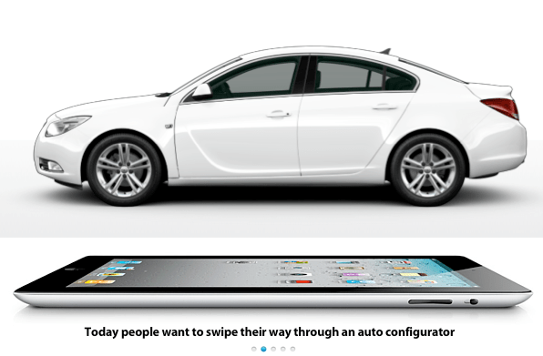Today people want to swipe their way though an auto configurator