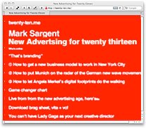 Mark Sargent: New Advertising for twenty thirteen